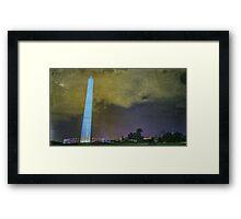 Washington Monument at Night Framed Print