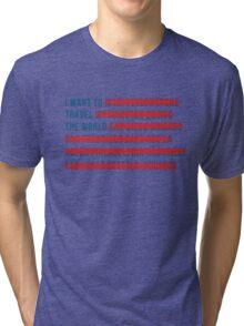 American Wanderlust Tri-blend T-Shirt