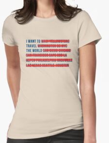 American Wanderlust Womens Fitted T-Shirt