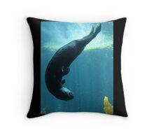 Otter Swirl Throw Pillow