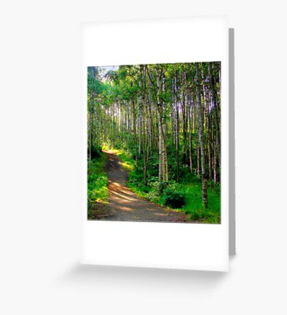 Alaska Footpath Greeting Card