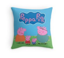 Peppa Pig Family Throw Pillow/Tote Bag Throw Pillow