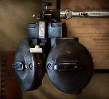 Doctor - Optometry - An old phoropter  by Mike  Savad