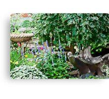 Garden Scene Gouache  Canvas Print