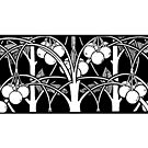 Art Nouveau - Cherry mug by © Kira Bodensted