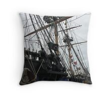 Rigging - The Grand Turk. Throw Pillow