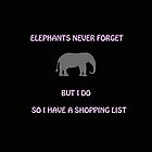 An Elephant Never Forgets (Shopping List) by CreativeEm