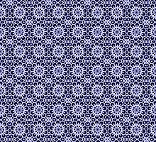 Snow flakes on dark blue background by Lena127