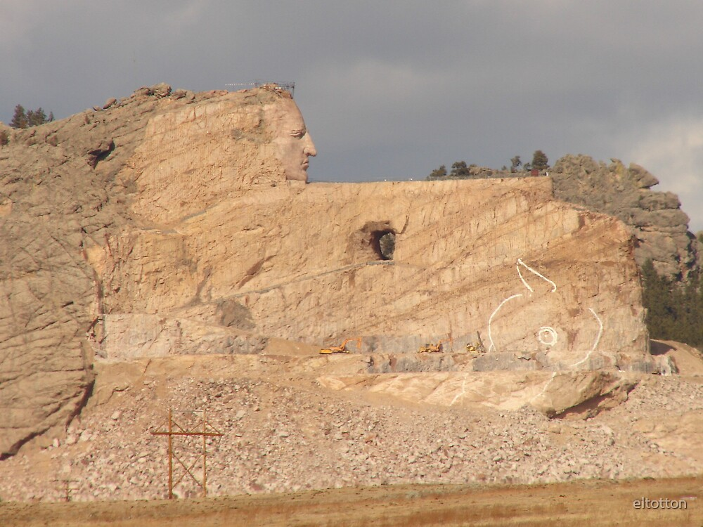 Crazy Horse Memorial, National Forest of the Black Hills of South Dakota by eltotton