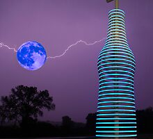 Blue Moon Lightning by Dennis Jones - CameraView