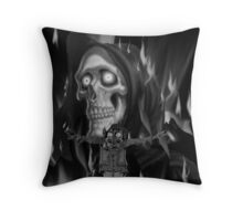 Rapper goes to hell Throw Pillow