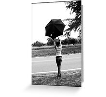 Parapluie Greeting Card