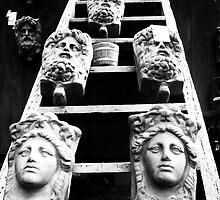 Statuesc stairway by Amber Kipp