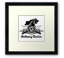 Chef Skull 9: Culinary Genius 3 black flames Framed Print