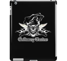 Chef Skull 9: Culinary Genius 3 white flames iPad Case/Skin