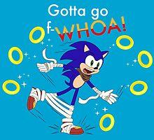 Sonic: Gotta Go F-WHOA! by davidjonesart