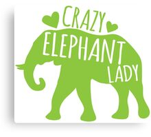 Crazy Elephant lady Canvas Print