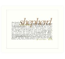 Psalms 23 Art Print