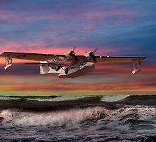 Catalina Flying Boat at Sunset (USAAF Version) by © Steve H Clark Photography