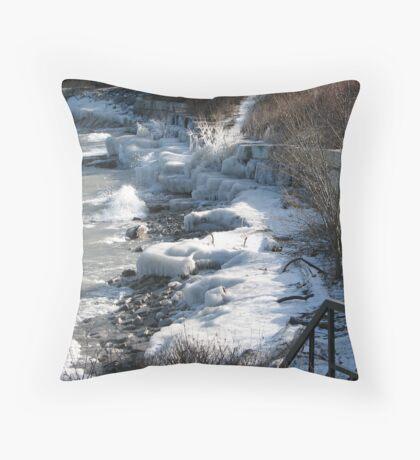 winter's last grip Throw Pillow
