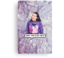 Miranda Sings - What The Even Heck Canvas Print