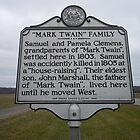 MARK TWAIN- HISTORICAL LAND MARK by James Gibbs