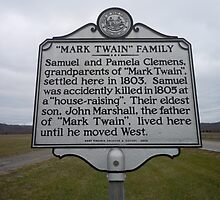 MARK TWAIN- HISTORICAL LAND MARK by James Gibbs