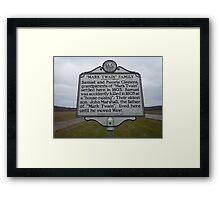 MARK TWAIN- HISTORICAL LAND MARK Framed Print
