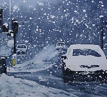 Cars In Snow by Ross Macintyre