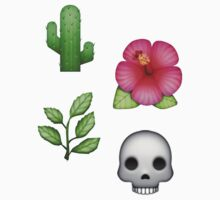 cactus skull leaves flower emoji by shadowmoses