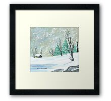 Christmas Snow Framed Print