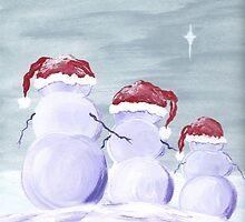 Christmas Snow Family by Ginger Lovellette