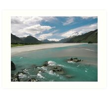 Dartmouth River, New Zealand Art Print