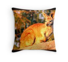 Nature Enjoying Nature Throw Pillow