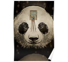 Panda window cleaner Poster