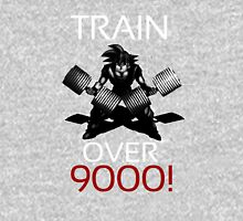 Train over 9000-BW White Letters T-Shirt