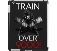 Train over 9000-BW White Letters iPad Case/Skin
