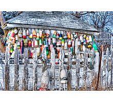 Wintering Buoys Photographic Print