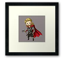 Thor : The Chibi World Framed Print