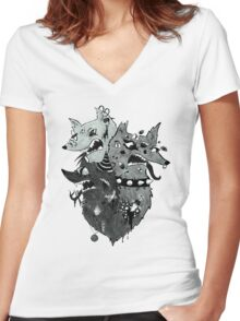 M Y T H Women's Fitted V-Neck T-Shirt