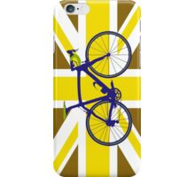 Bike Flag United Kingdom (Gold) (Big - Highlight) iPhone Case/Skin
