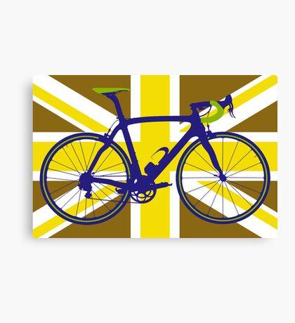 Bike Flag United Kingdom (Gold) (Big - Highlight) Canvas Print