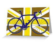 Bike Flag United Kingdom (Gold) (Big - Highlight) Greeting Card