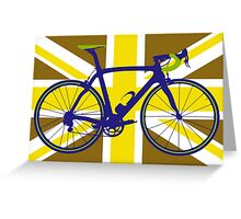 Bike Flag United Kingdom (Gold) (Big - Highlight) Greeting Card