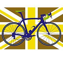 Bike Flag United Kingdom (Gold) (Big - Highlight) Photographic Print