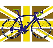 Bike Flag United Kingdom (Gold) (Big - Highlight) Photographic Print