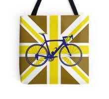 Bike Flag United Kingdom (Gold) (Big - Highlight) Tote Bag