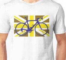 Bike Flag United Kingdom (Gold) (Big - Highlight) Unisex T-Shirt