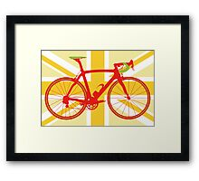 Bike Flag United Kingdom (Yellow) (Big - Highlight) Framed Print