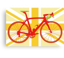Bike Flag United Kingdom (Yellow) (Big - Highlight) Canvas Print